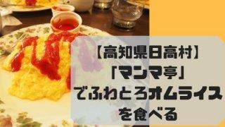 【高知県日高村】「マンマ亭」でふわとろオムライスを食べる