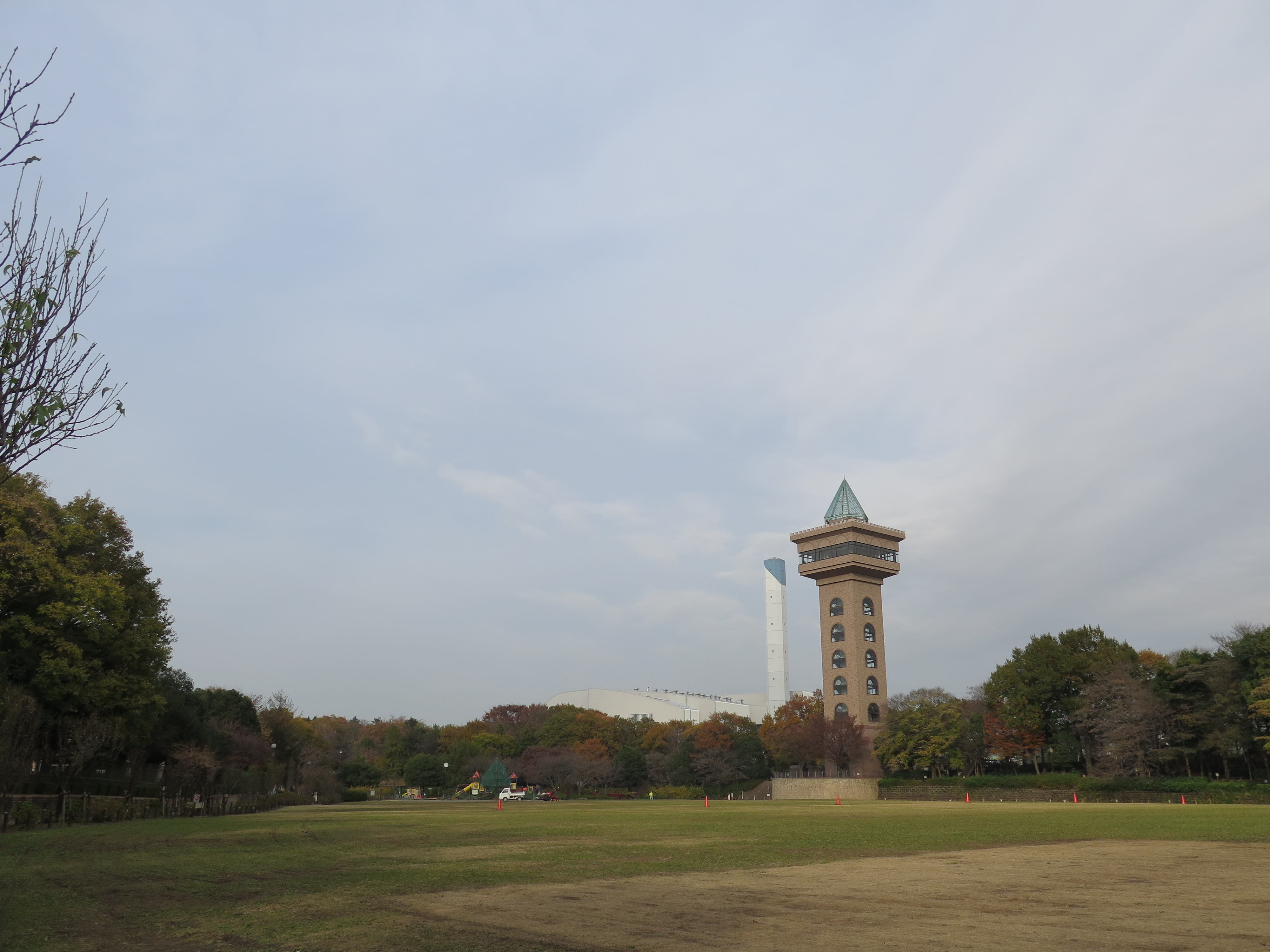 麻溝公園のグリーンタワー。「でいらぼっち」の気分でいろいろ支配下に見下ろせる