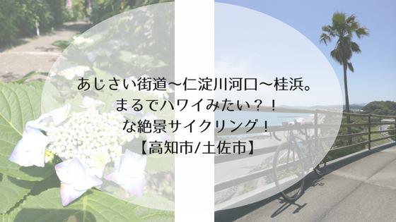 あじさい街道~仁淀川河口~桂浜。まるでハワイみたい?!な絶景サイクリング!【高知市/土佐市】